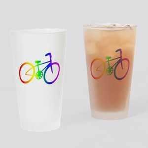 Biking Drinking Glass