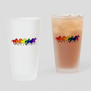 Horses Running Wild Drinking Glass
