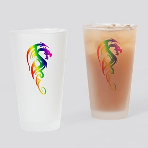 Tribal Dragon Drinking Glass