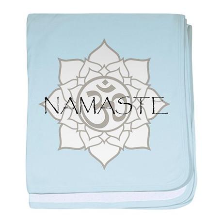 Namaste Om baby blanket