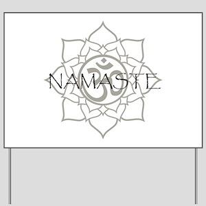Namaste Om Yard Sign