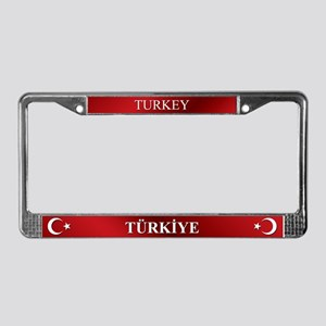 Turkish Flag License Plate Frame