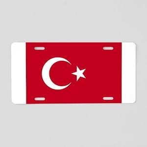 Turkish Flag Aluminum License Plate