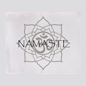 Namaste Om Throw Blanket