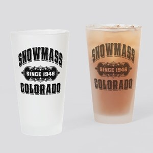 Snowmass Colorado Drinking Glass