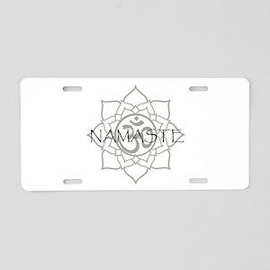 Namaste Om Aluminum License Plate