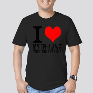 I Love My In-Laws Men's Fitted T-Shirt (dark)
