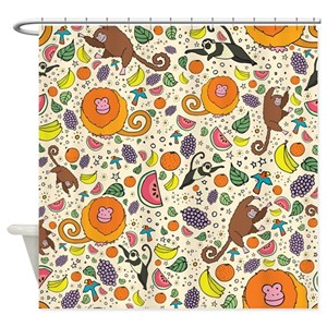 Tropical Monkey Shower Curtains