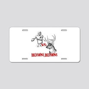 Hunting or Football? Aluminum License Plate