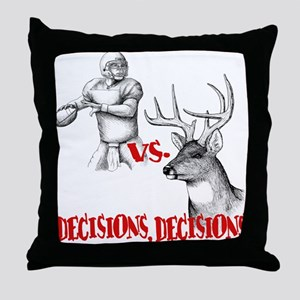 Hunting or Football? Throw Pillow