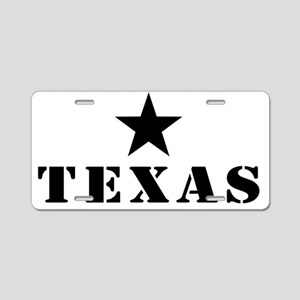 Texas, Lone Star State Aluminum License Plate