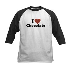 I love Chocolate Kids Baseball Jersey