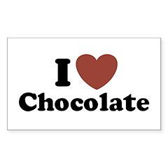 I love Chocolate Rectangle Decal