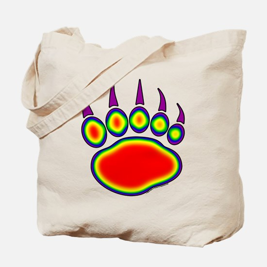Bear Paw Heat Map Tote Bag