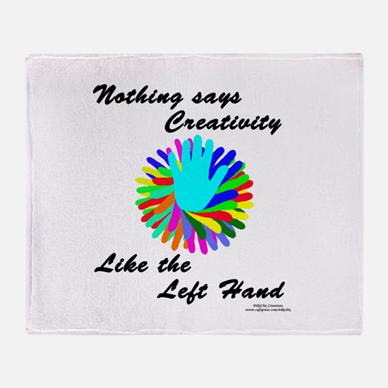 Left Handed Creativity Throw Blanket