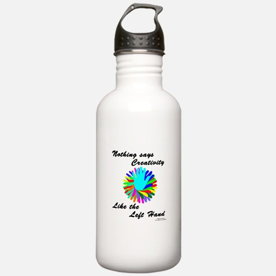 Left Handed Creativity Water Bottle