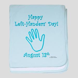 Left Handers' Day baby blanket