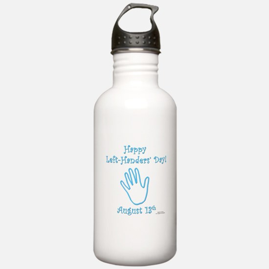 Left Handers' Day Water Bottle