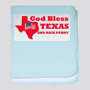 God Bless Texas & Rick Perry baby blanket