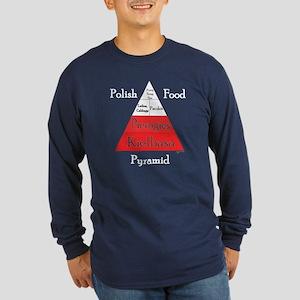 Polish Food Pyramid Long Sleeve Dark T-Shirt