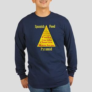 Spanish Food Pyramid Long Sleeve Dark T-Shirt