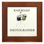 Railroad Photographer Framed Tile