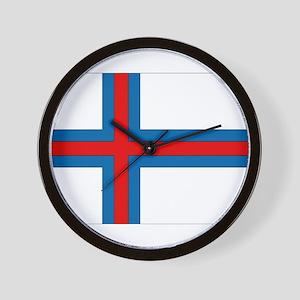 Faroe Islands Flag Wall Clock
