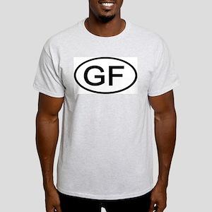 GF - Initial Oval Ash Grey T-Shirt