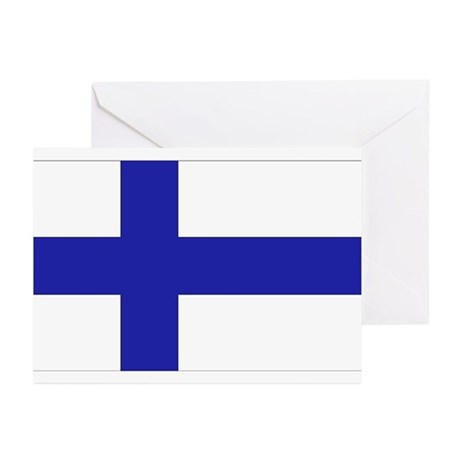 Finnish Flag Greeting Cards (Pk of 10)