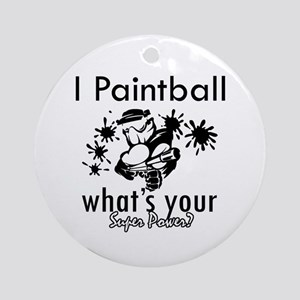I Paintball Ornament (Round)