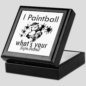 I Paintball Keepsake Box