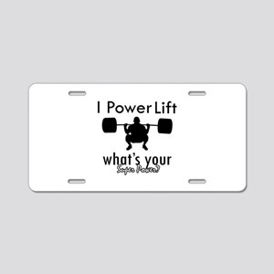 I Power Lift Aluminum License Plate