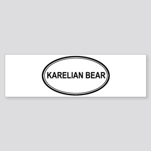 Karelian Bear Euro Bumper Sticker