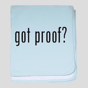 got proof? baby blanket