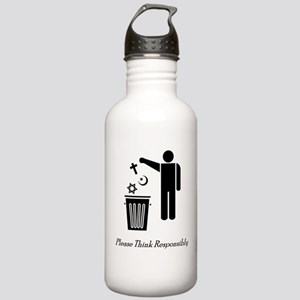 Please Think Responsibly Stainless Water Bottle 1.