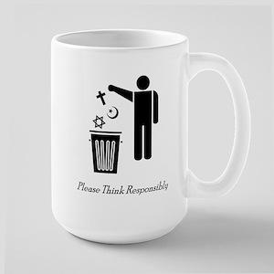 Please Think Responsibly Large Mug