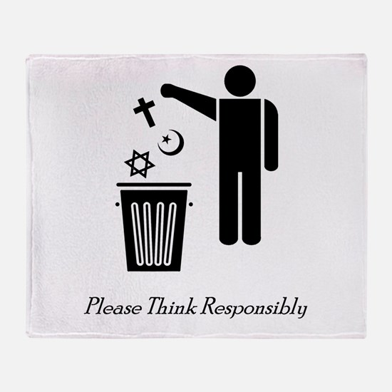 Please Think Responsibly Throw Blanket