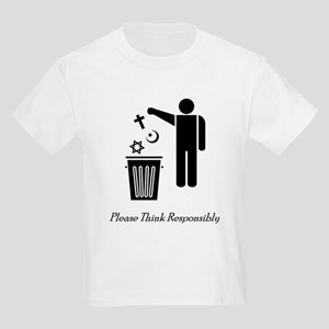 Please Think Responsibly Kids Light T-Shirt