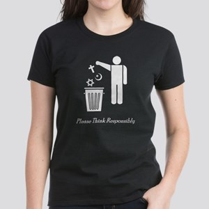Please Think Responsibly Women's Dark T-Shirt