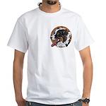 Tug's White T-Shirt, pocket area