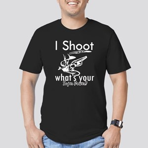 I Shoot Men's Fitted T-Shirt (dark)