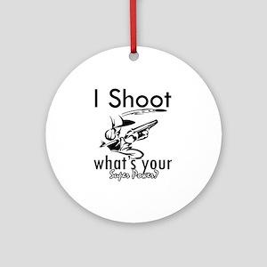 I Shoot Ornament (Round)