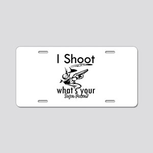 I Shoot Aluminum License Plate