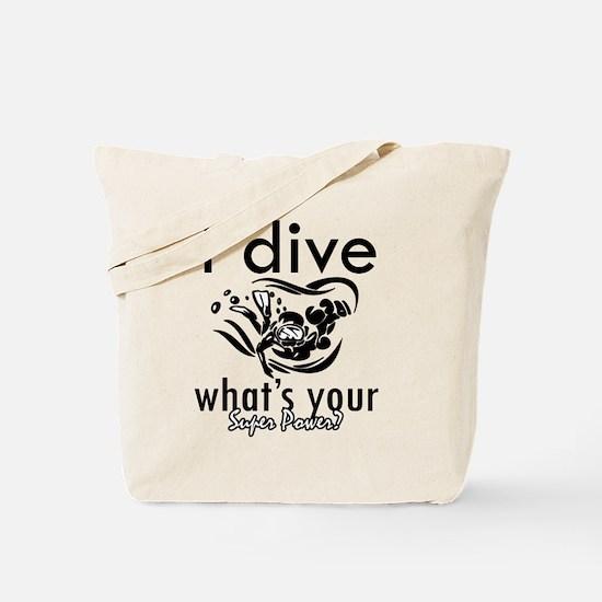 I Scuba dive Tote Bag