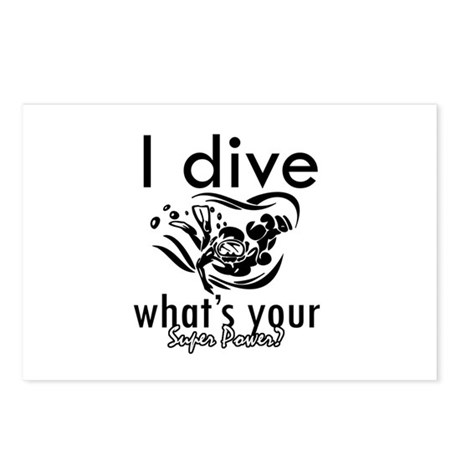 I Scuba dive Postcards (Package of 8)