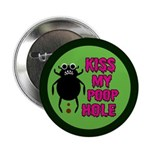 """ANGRY DUNG BEETLE c 2.25"""" Button (100 pack)"""