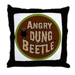 ANGRY DUNG BEETLE c Throw Pillow