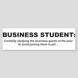 Business Student 1 Bumper Sticker
