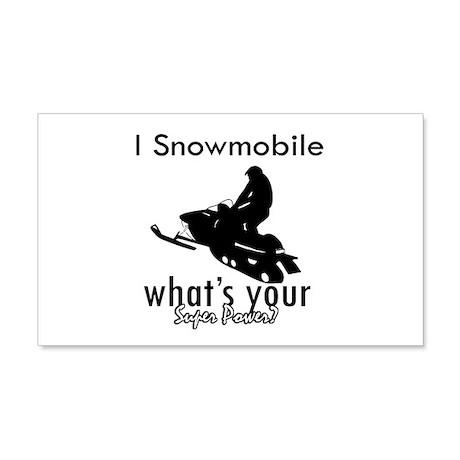 I Snowmobile 22x14 Wall Peel