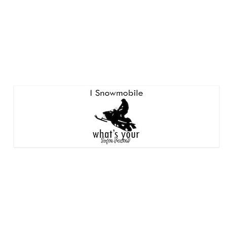 I Snowmobile 42x14 Wall Peel
